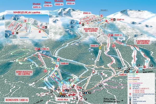 45 километров различной сложности и длины лыжных трасс
